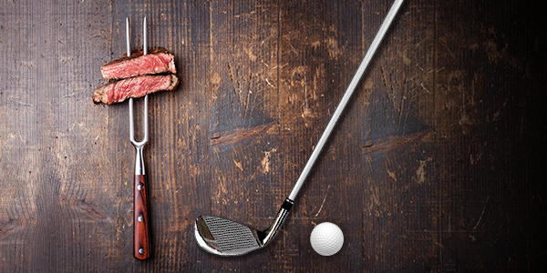 29.  Golf & Steak